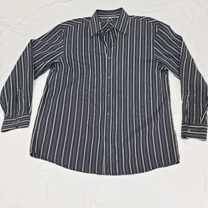 🔥3/$15🔥Claiborne Black White Stripe Button Down